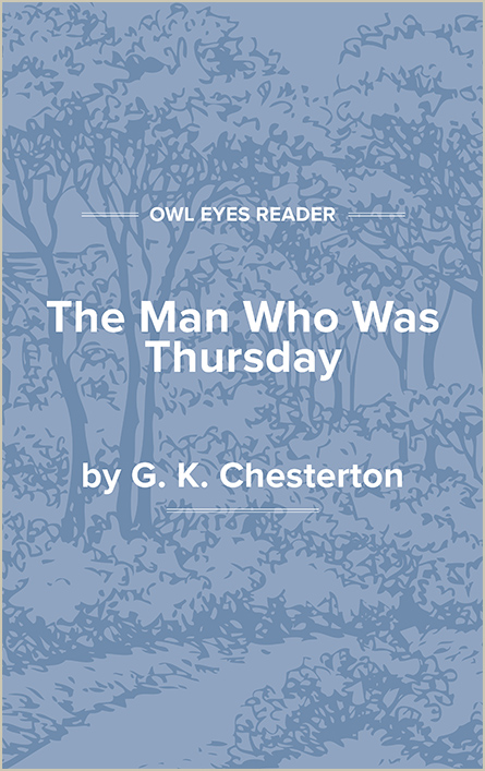 The Man Who Was Thursday: A Nightmare Cover Image