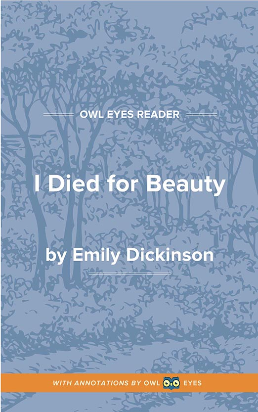 I Died for Beauty Cover Image