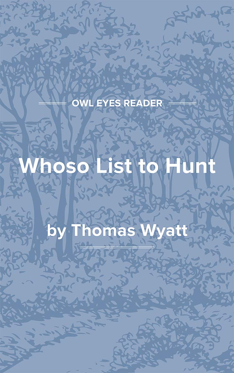 Whoso List to Hunt Cover Image