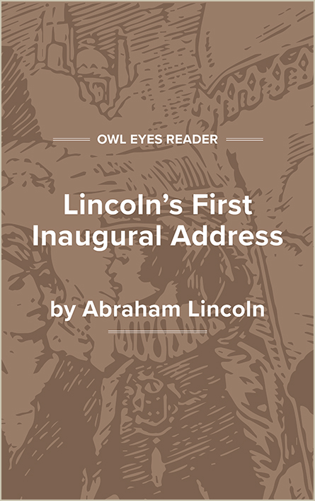 Lincoln's First Inaugural Address Cover Image