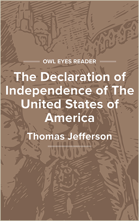 The Declaration of Independence of The United States of America Cover Image