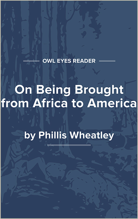 On Being Brought from Africa to America Cover Image