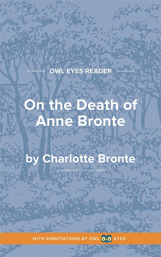 On the Death of Anne Bronte Cover Image