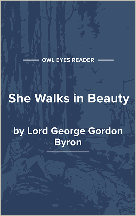 She Walks in Beauty Cover Image