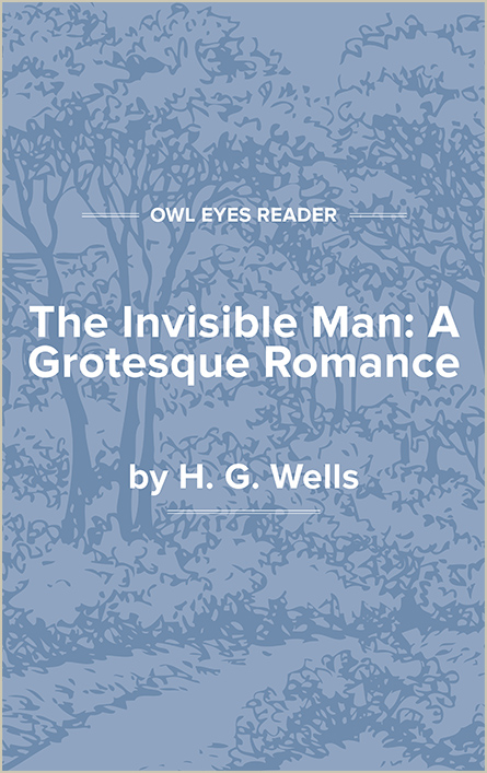 The Invisible Man: A Grotesque Romance Cover Image
