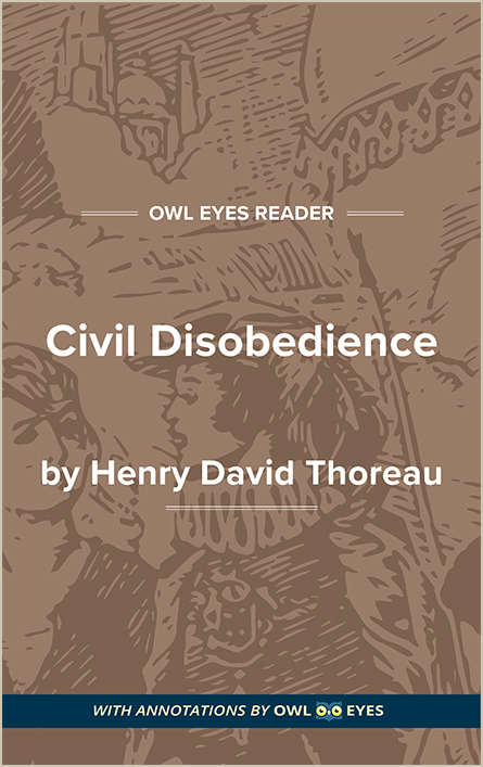 Allusion In Civil Disobedience Owl Eyes