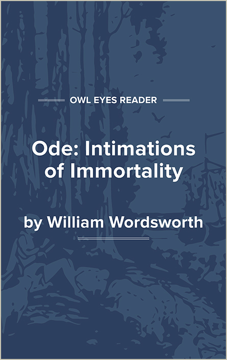 Ode: Intimations of Immortality Cover Image