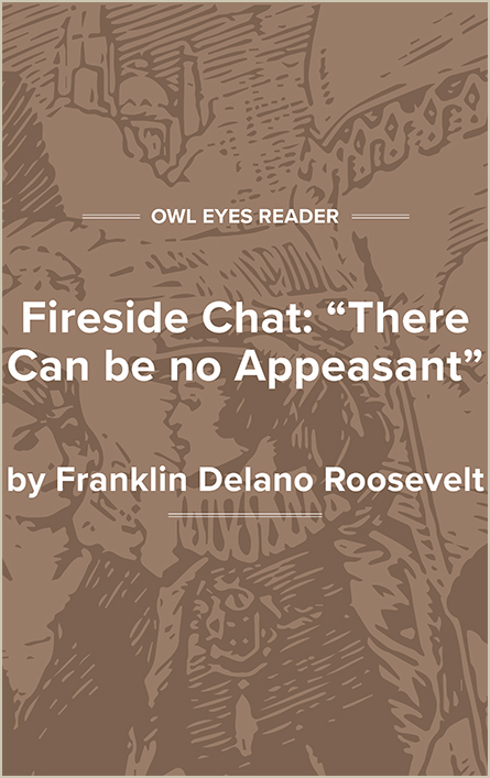 "Fireside Chat: ""There Can Be No Appeasement"" Cover Image"
