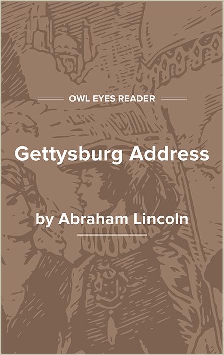 Gettysburg Address Cover Image