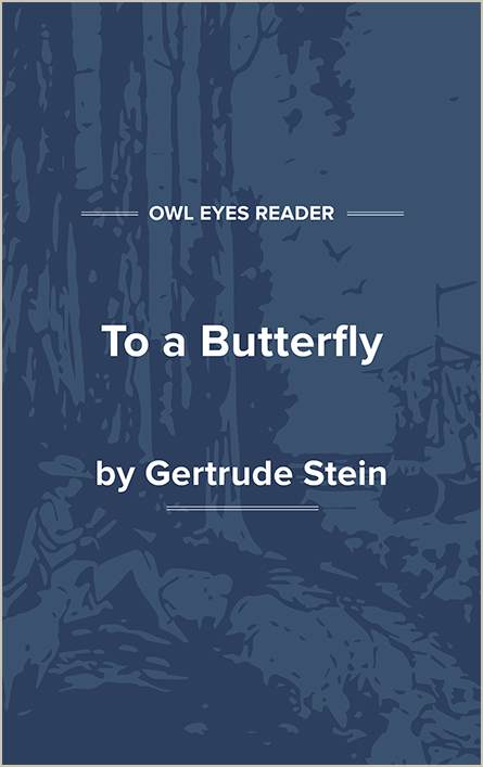 To a Butterfly Cover Image