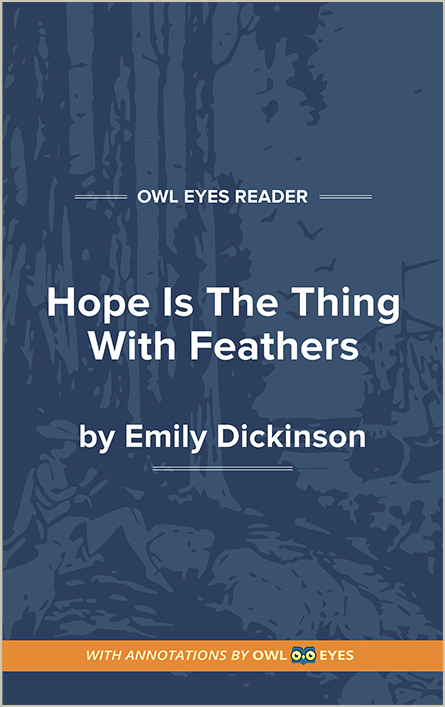 Hope Is the Thing With Feathers Cover Image