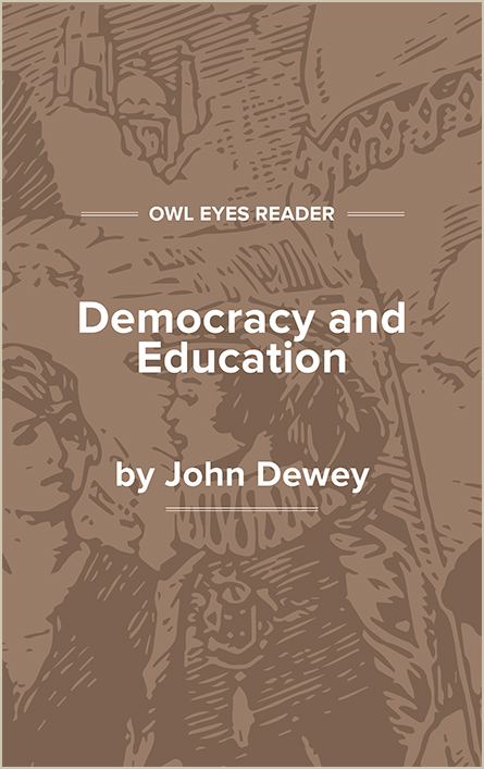 Democracy and Education Cover Image