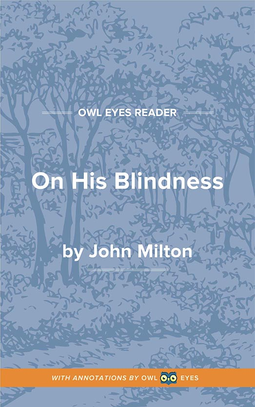 On His Blindness Cover Image