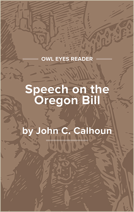 Speech on the Oregon Bill Cover Image