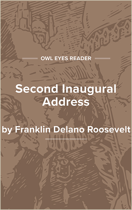 Second Inaugural Address of Franklin D. Roosevelt Cover Image