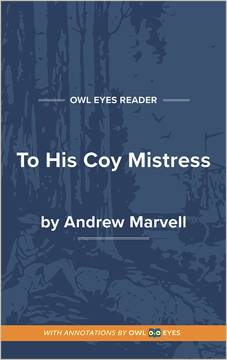 To His Coy Mistress Cover Image