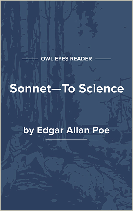 Sonnet—To Science Cover Image