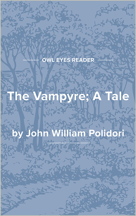 The Vampyre; A Tale Cover Image