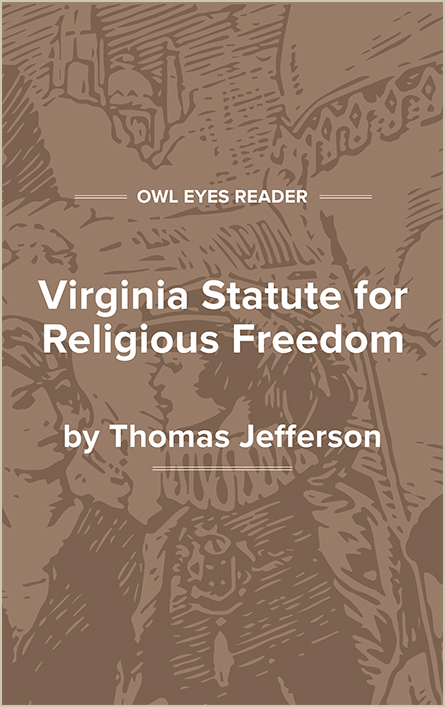 Virginia Statute for Religious Freedom Cover Image