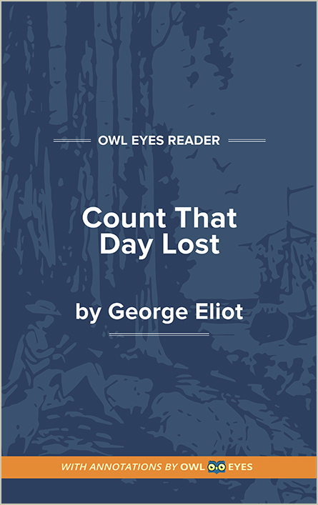 Count That Day Lost Cover Image