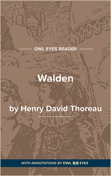 walden full text and analysis owl eyes walden cover image
