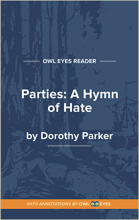 Parties: A Hymn of Hate Cover Image