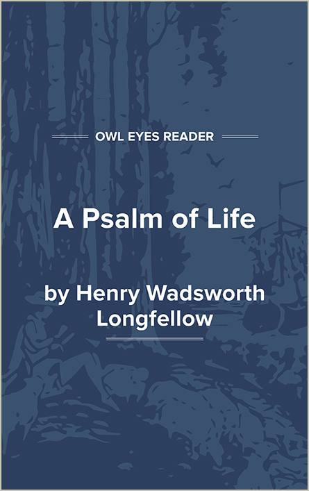 A Psalm of Life Cover Image