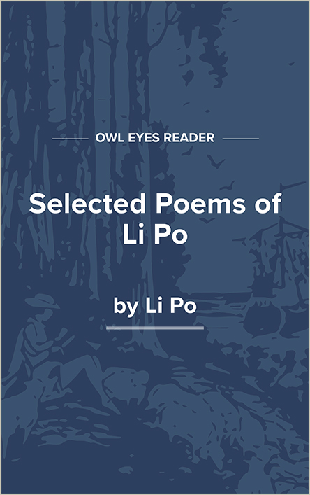 Selected Poems of Li Po Cover Image