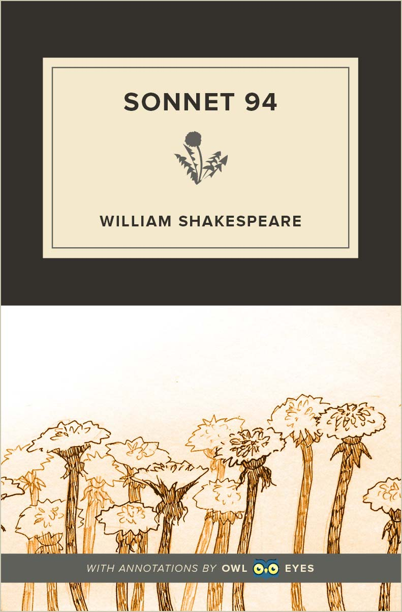 Sonnet 94 Cover Image