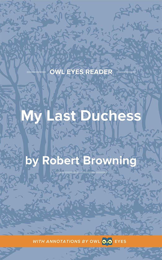 My Last Duchess Cover Image