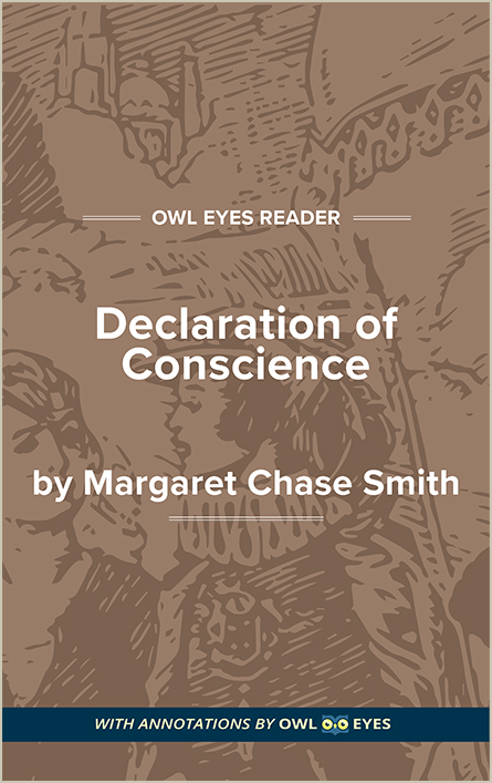 Remarks to the Senate in Support of a Declaration of Conscience Cover Image