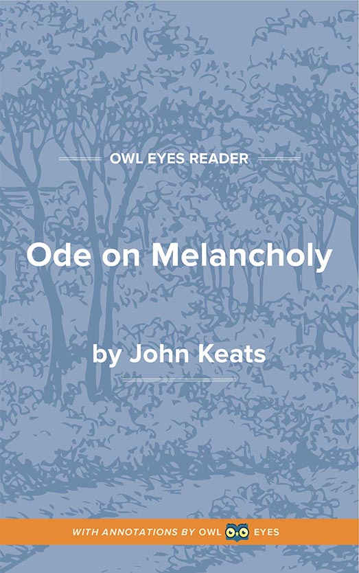 Ode on Melancholy Cover Image