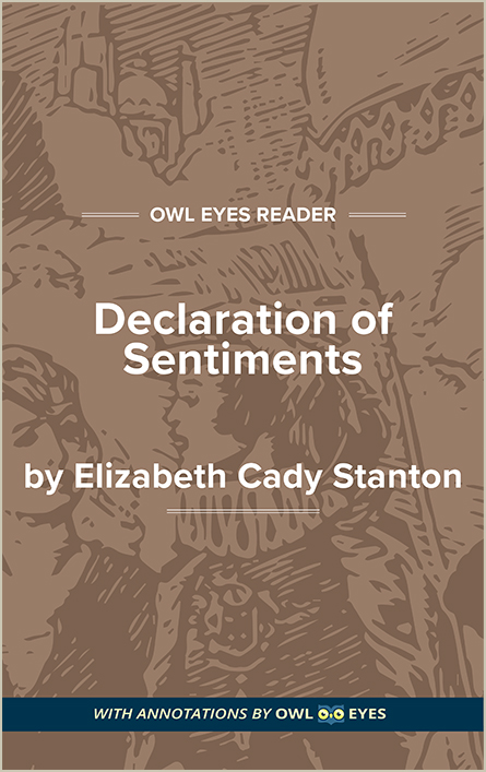Declaration of Sentiments Cover Image
