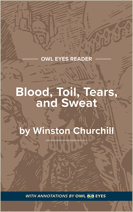 Blood, Toil, Tears, and Sweat Cover Image