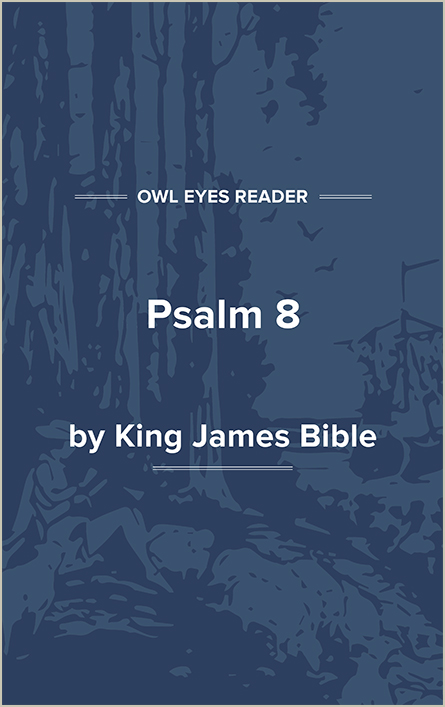 Psalm 8 Cover Image