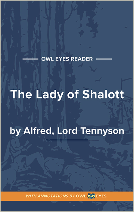 Symbols In The Lady Of Shalott Owl Eyes