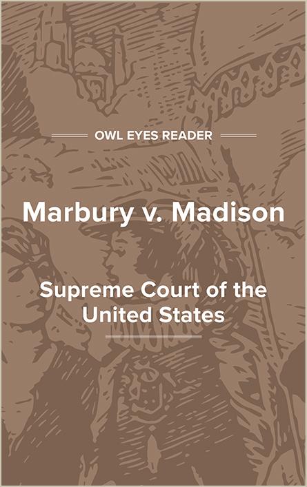 Marbury v. Madison Cover Image