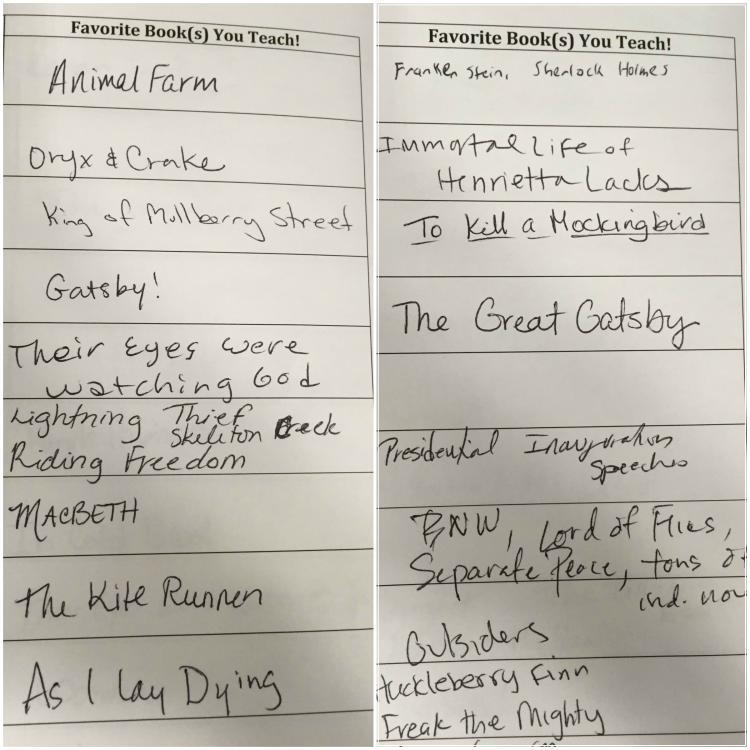 NCTE Teacher's Favorite Books Collage